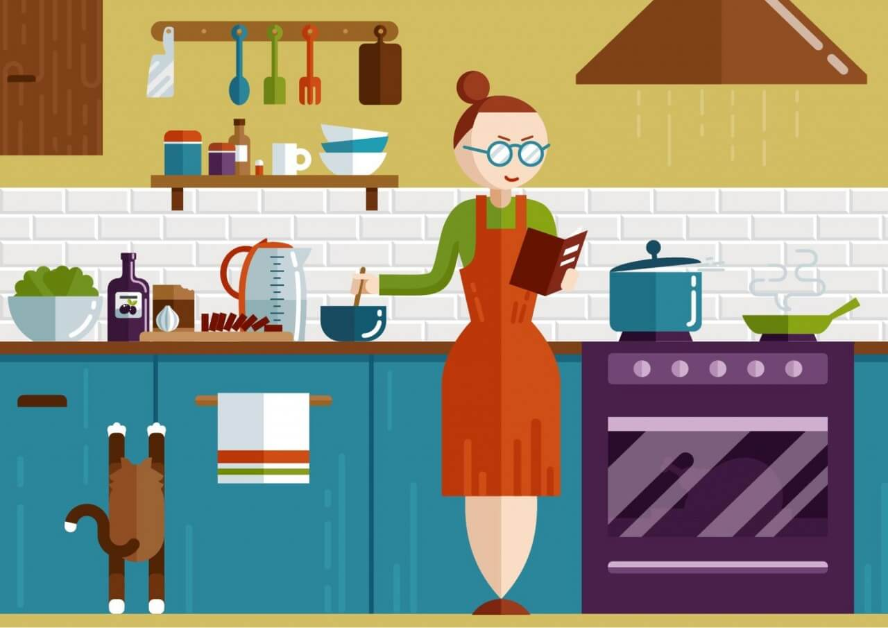 "Free vector ""Kitchen illustration"""