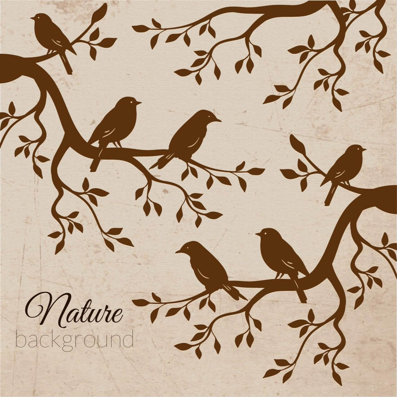 "Free vector ""Vintage bird illustration"""