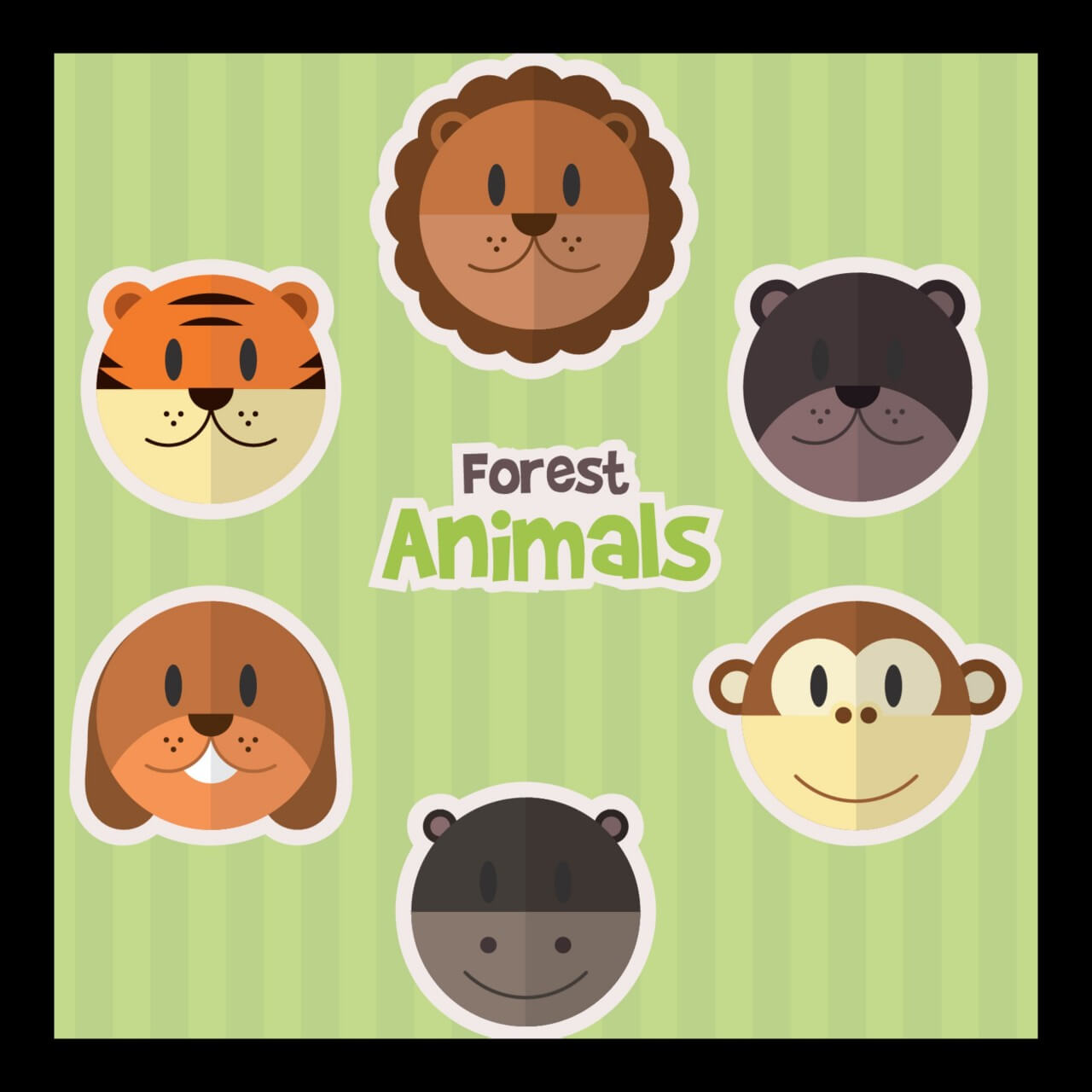 "Free vector ""Forest Animals"""