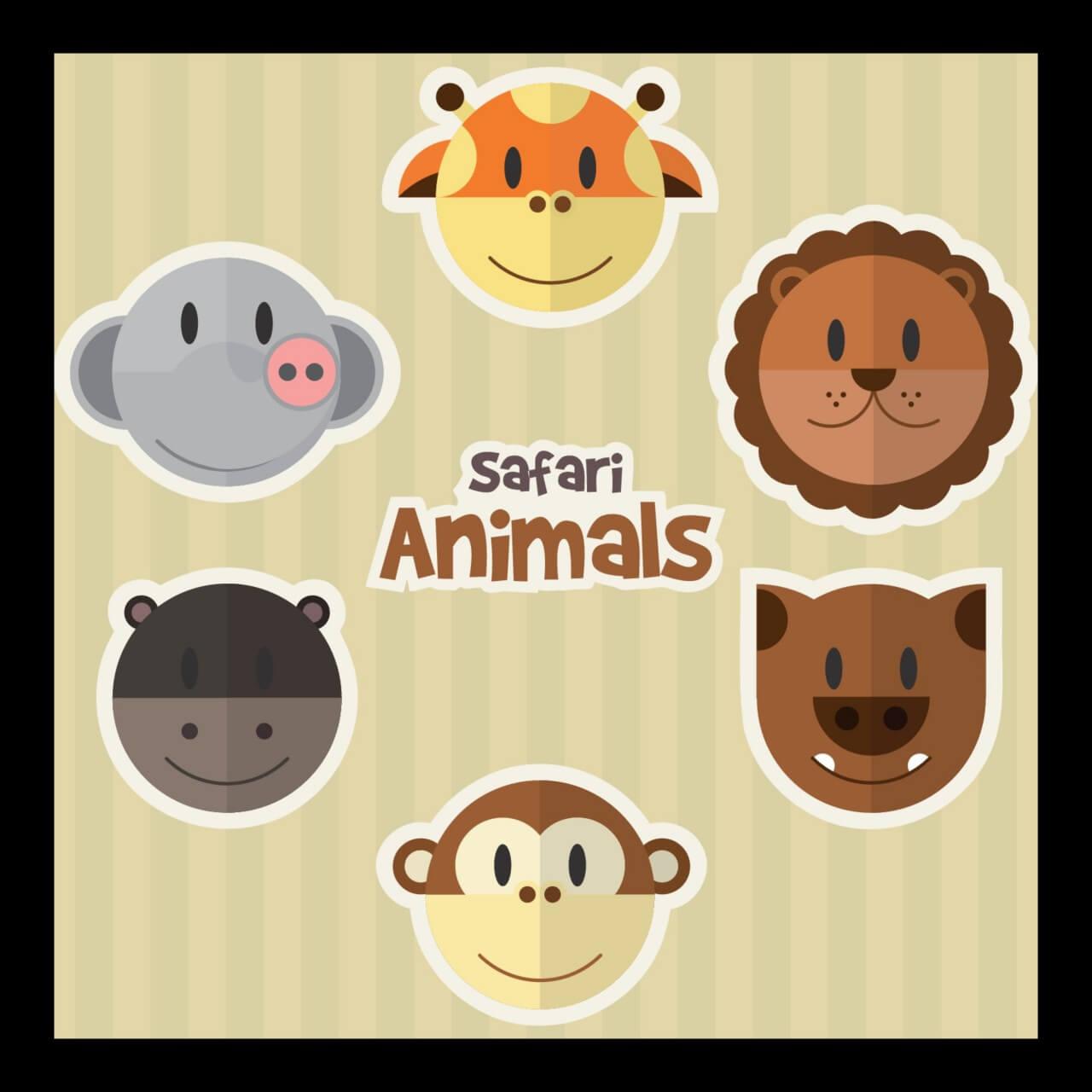 "Free vector ""Safari Animals"""
