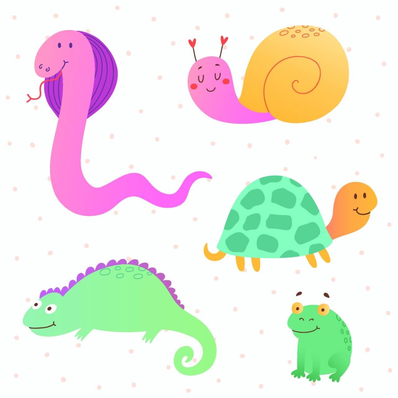 "Free vector ""Reptile vector set"""