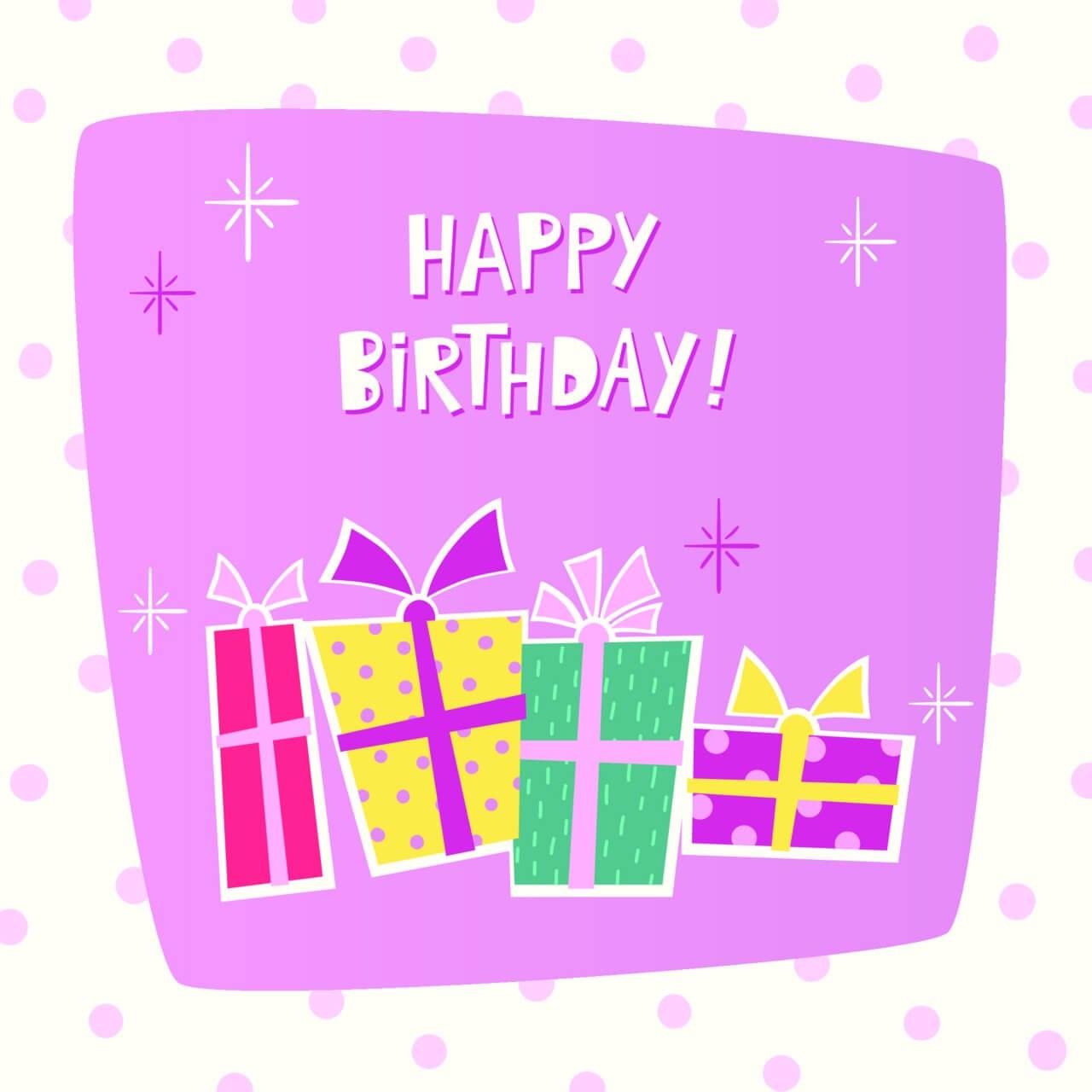 "Free vector ""Happy Birthday card"""