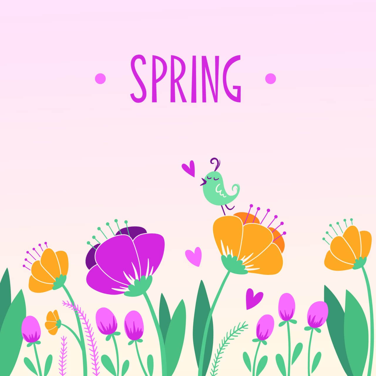 "Free vector ""Spring floral background"""