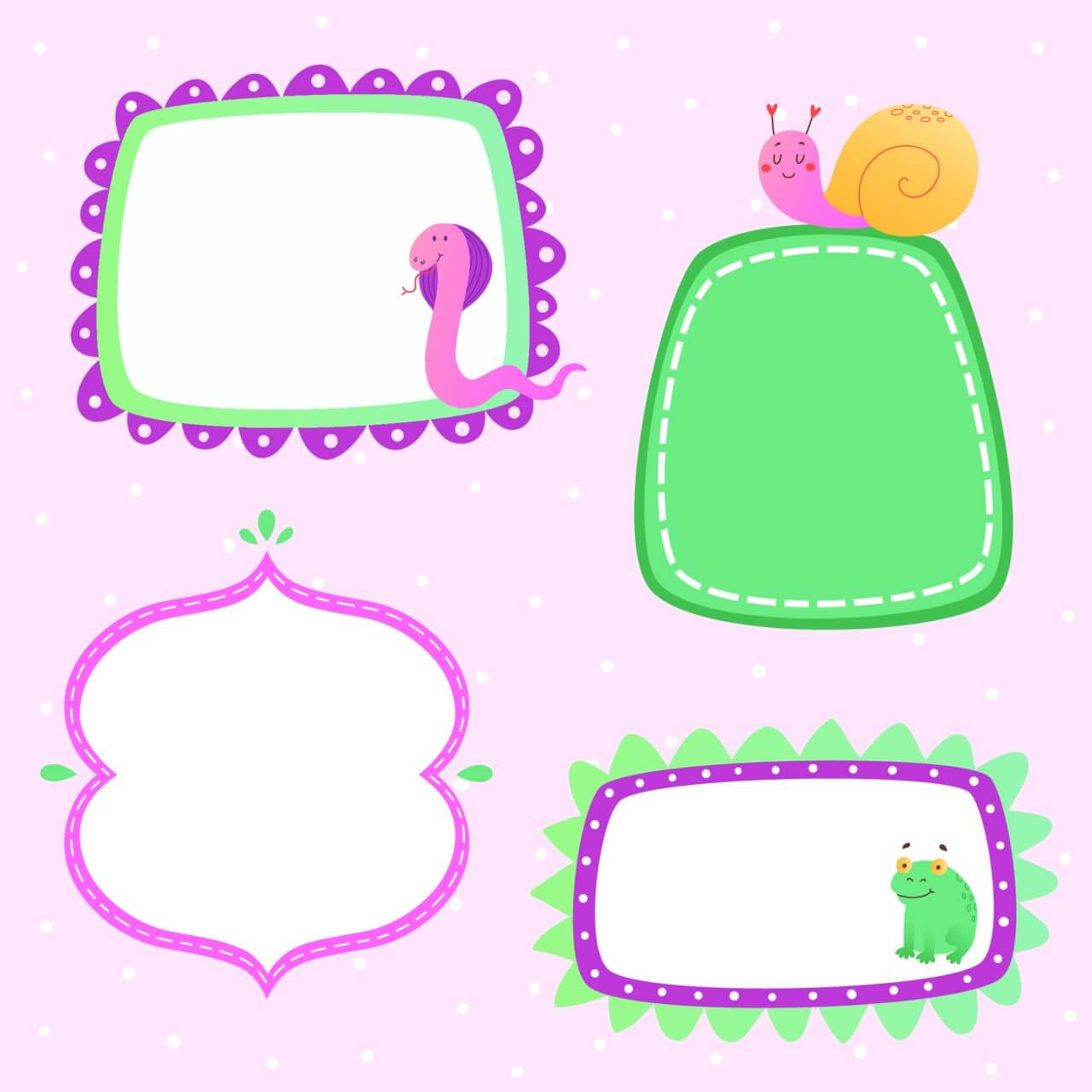 "Free vector ""Cute frames set"""