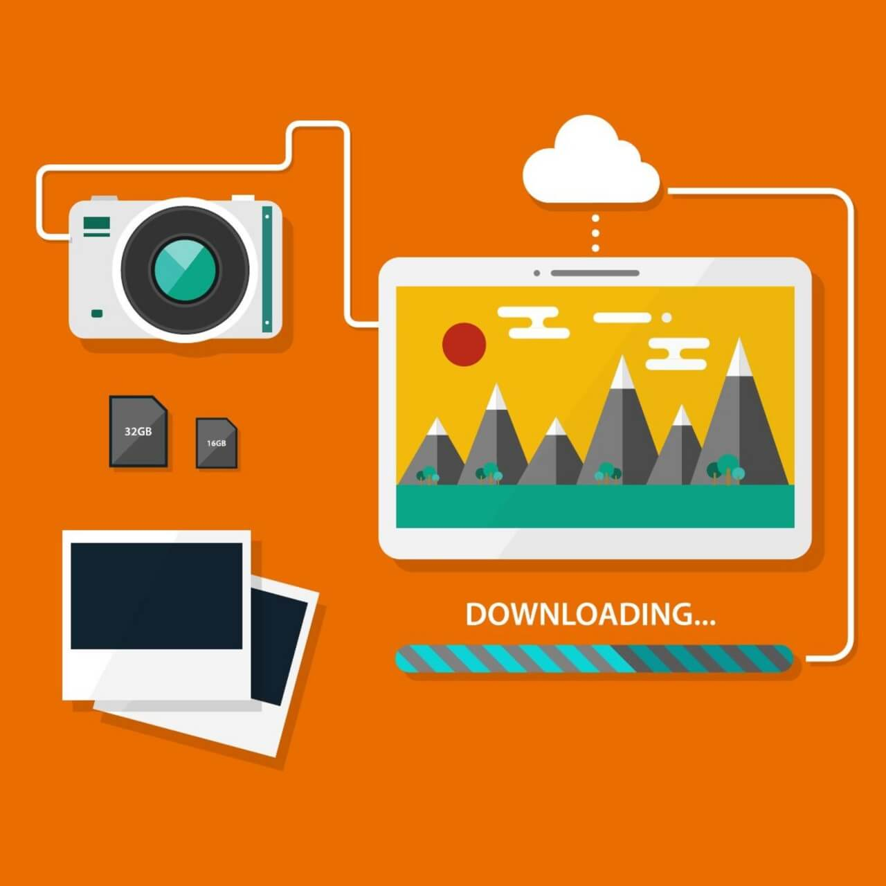"Free vector ""Camera and tablet"""