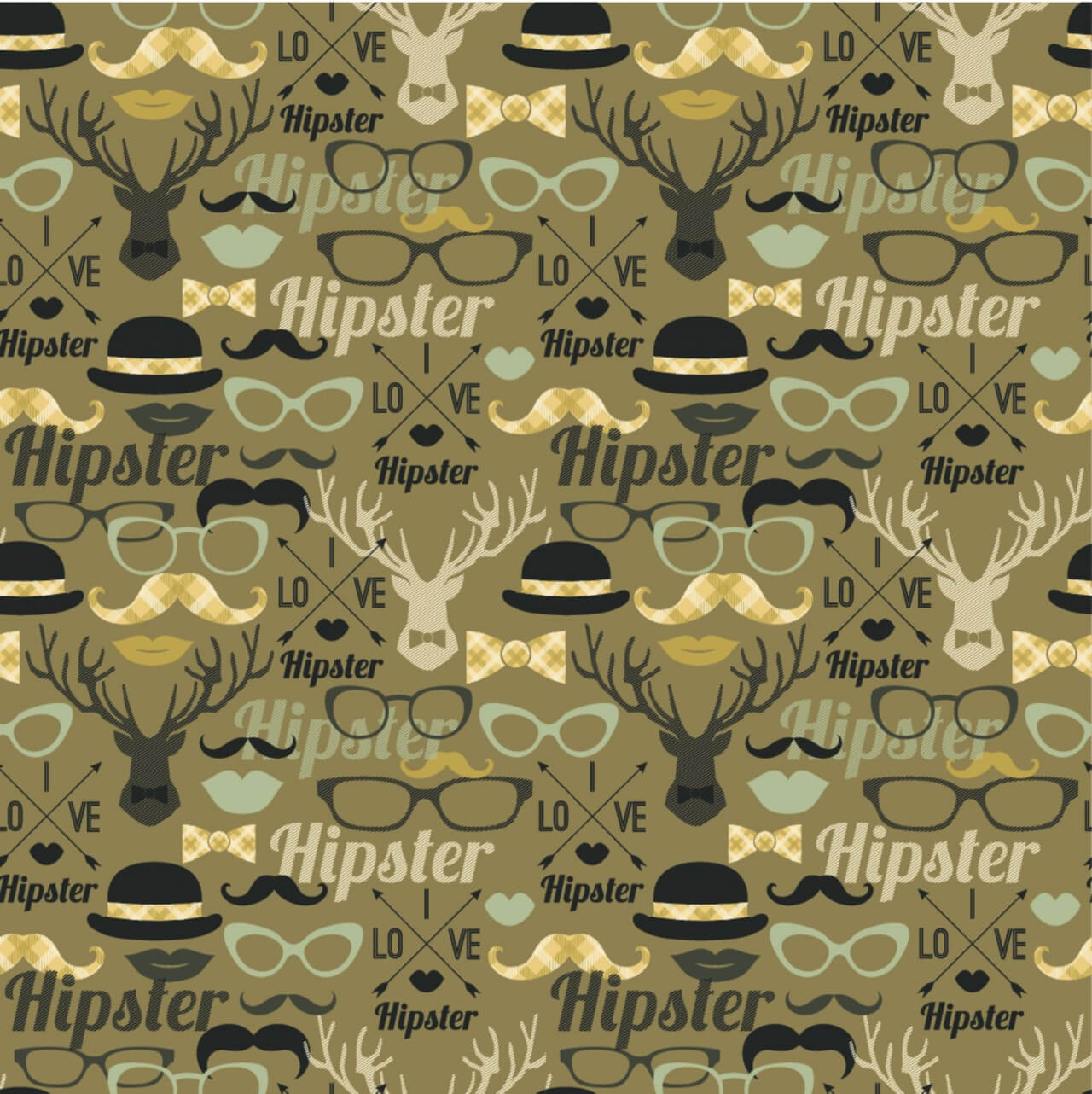 "Free vector ""Hipster seamless pattern."""