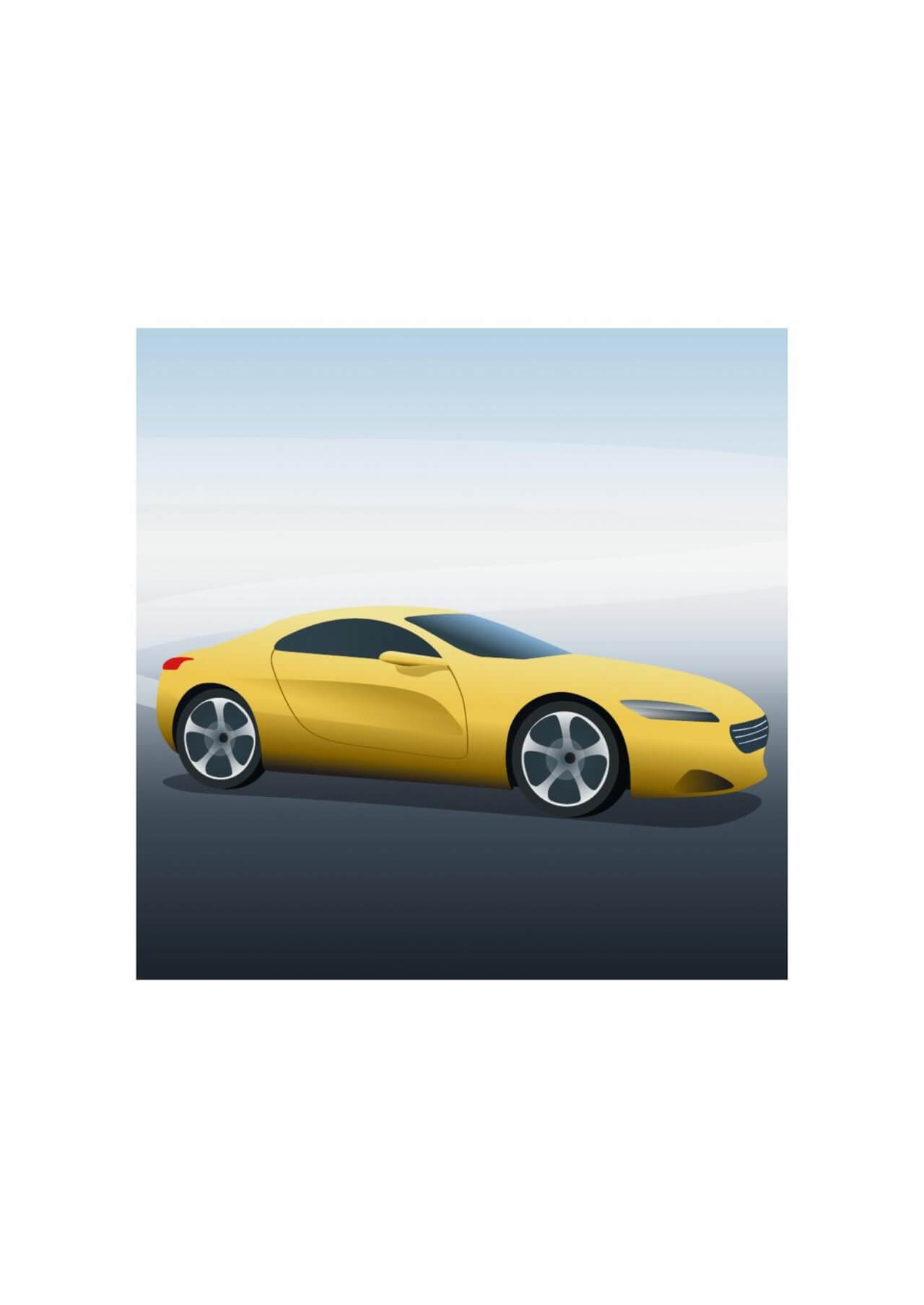 "Free vector ""Vector illustration Yellow sports car"""