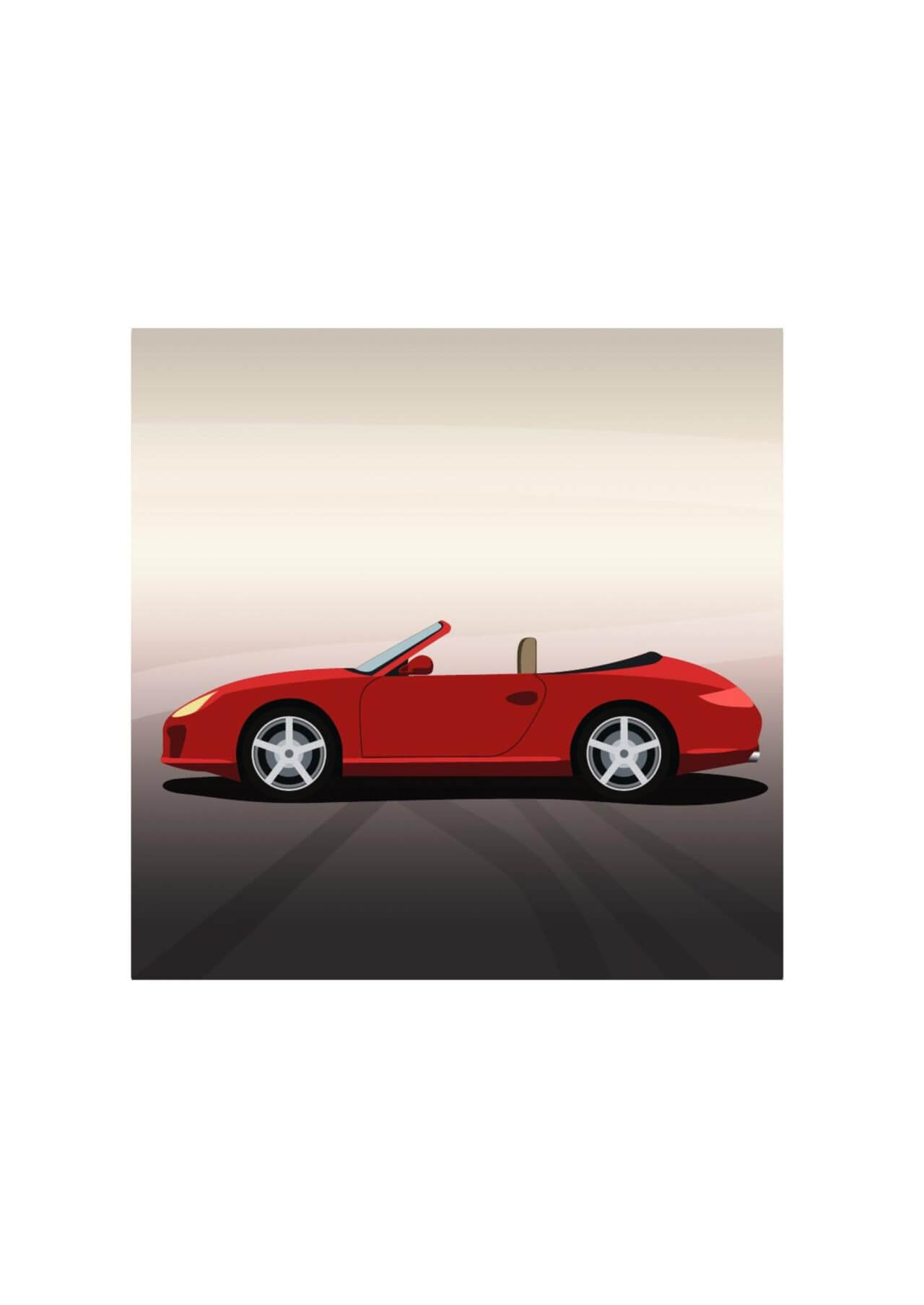 "Free vector ""Vector illustration Red sports car"""