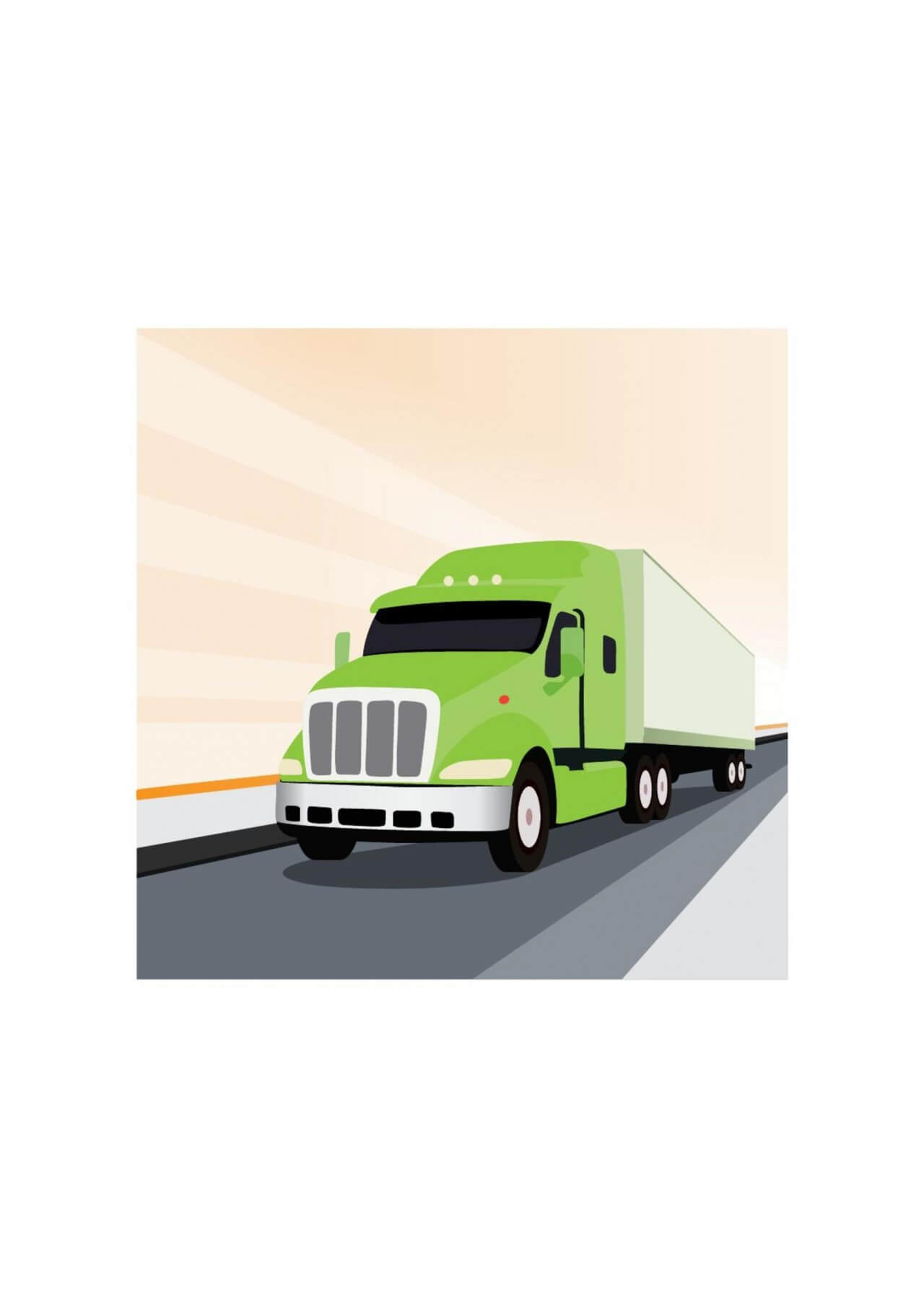 "Free vector ""Vector illustration Green truck"""