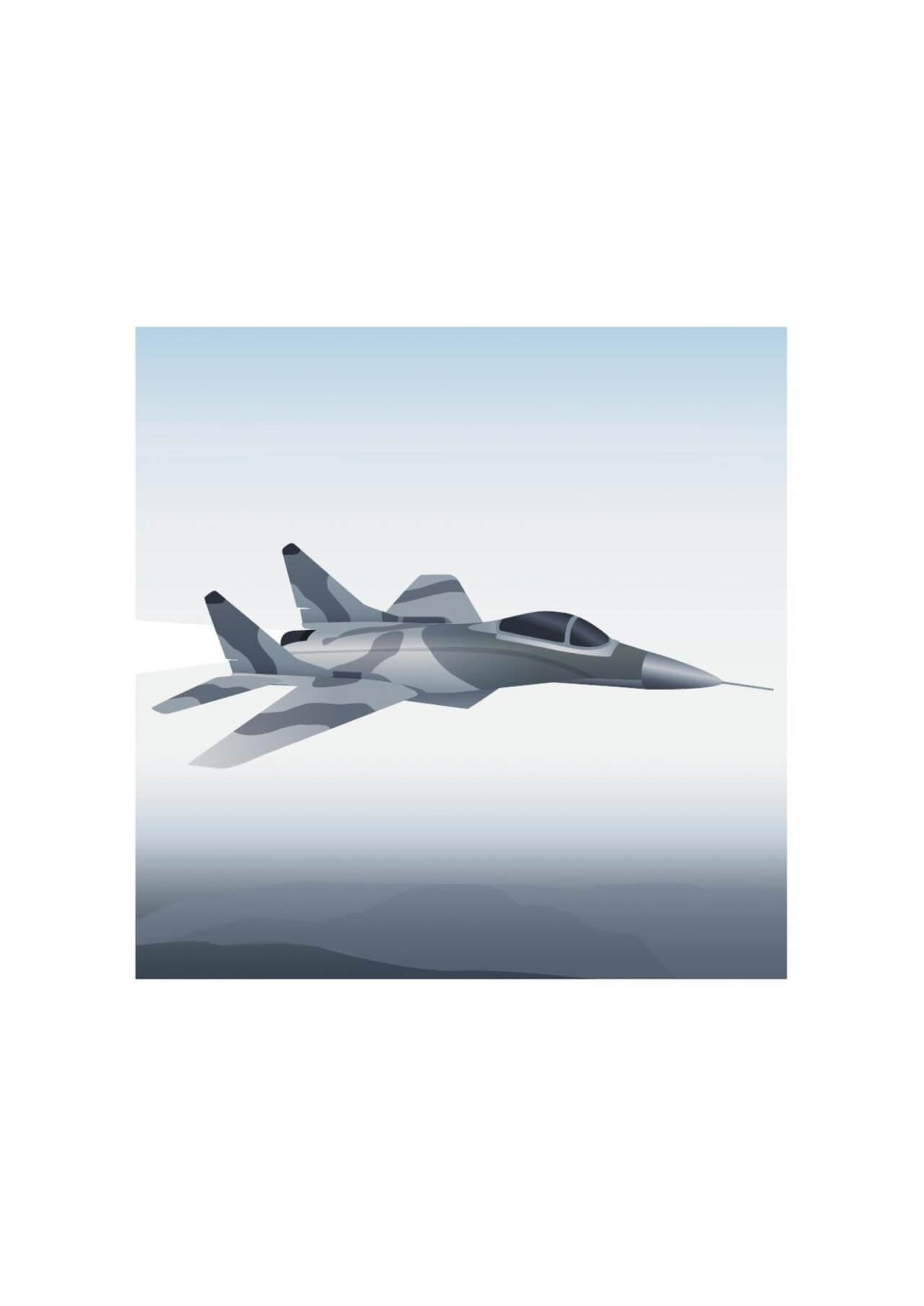 "Free vector ""Vector illustration Military aircraft"""