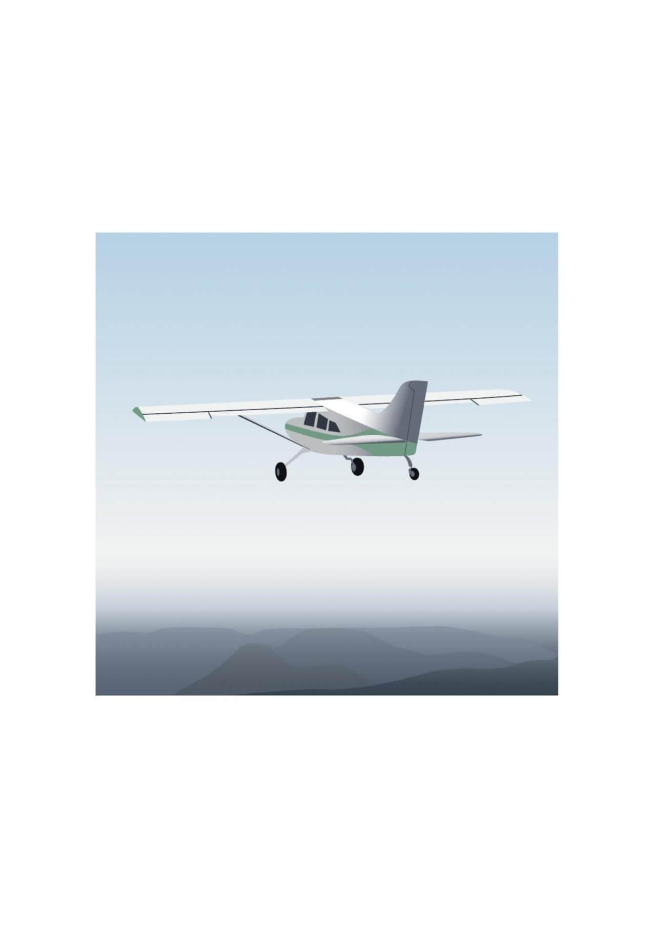 "Free vector ""Vector illustration Aircraft"""