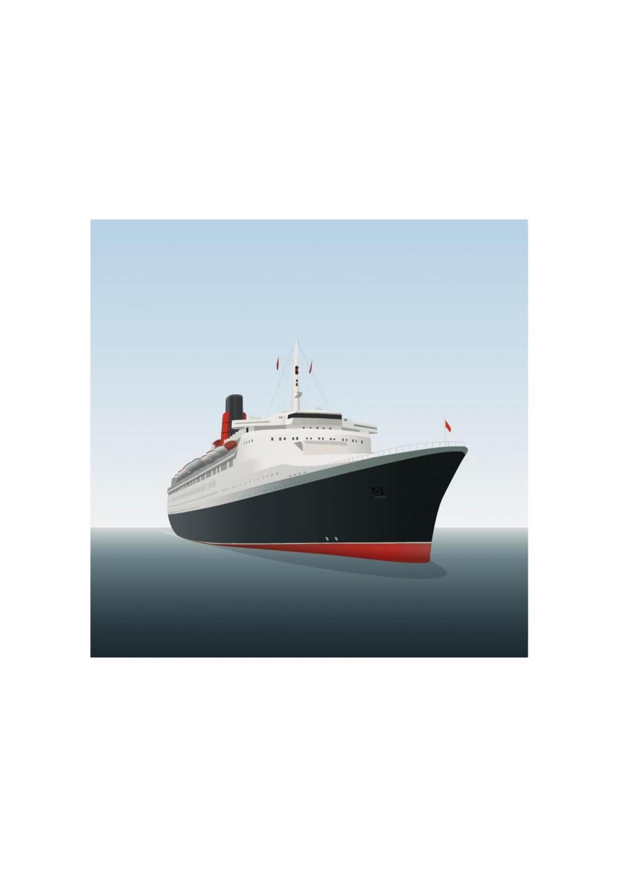 """Free vector """"Vector illustration Ocean liner"""""""