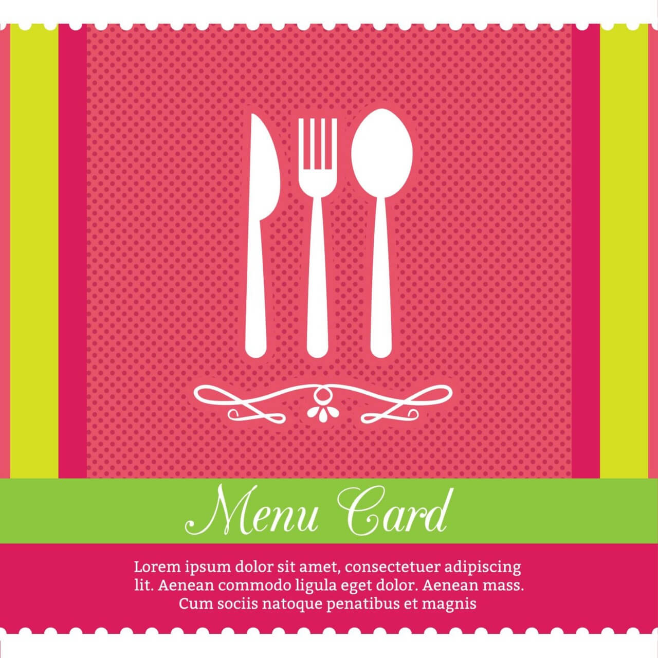"Free vector ""Restaurant Menu Card Design Template"""