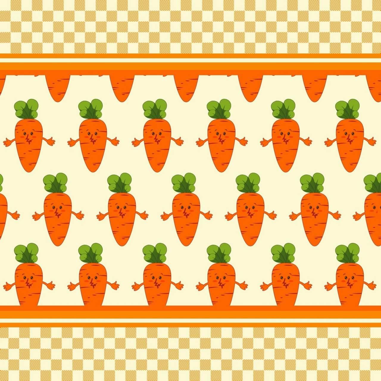 """Free vector """"Carrot vector illustration, pattern"""""""