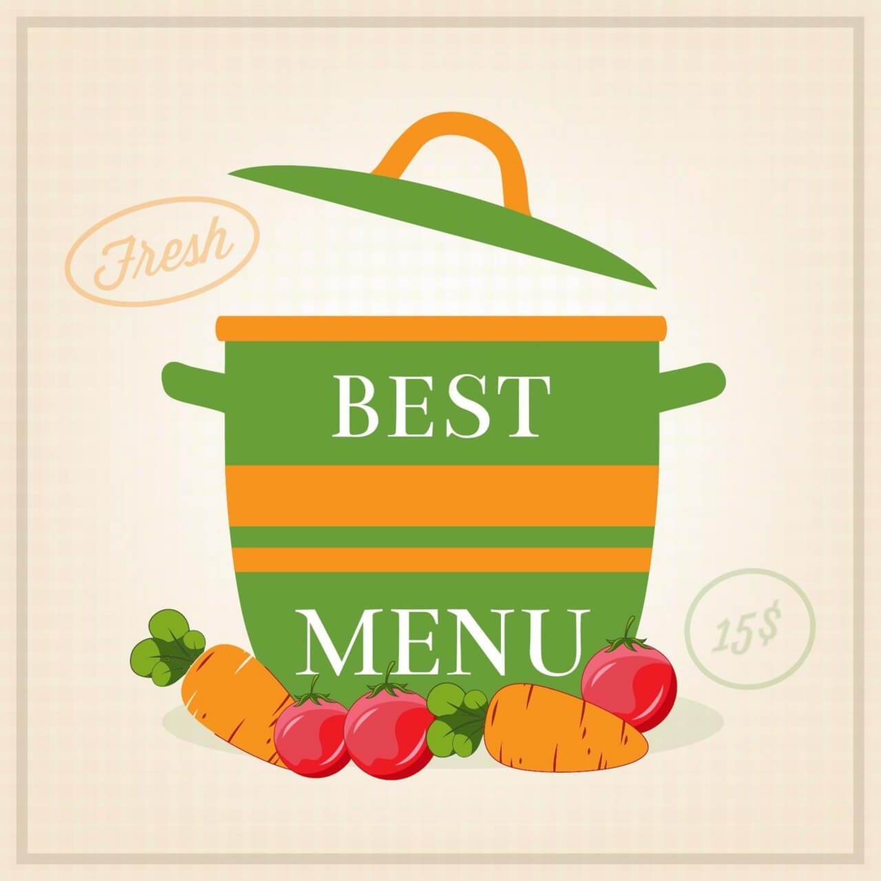 "Free vector ""Vegetarian restaurant illustration"""