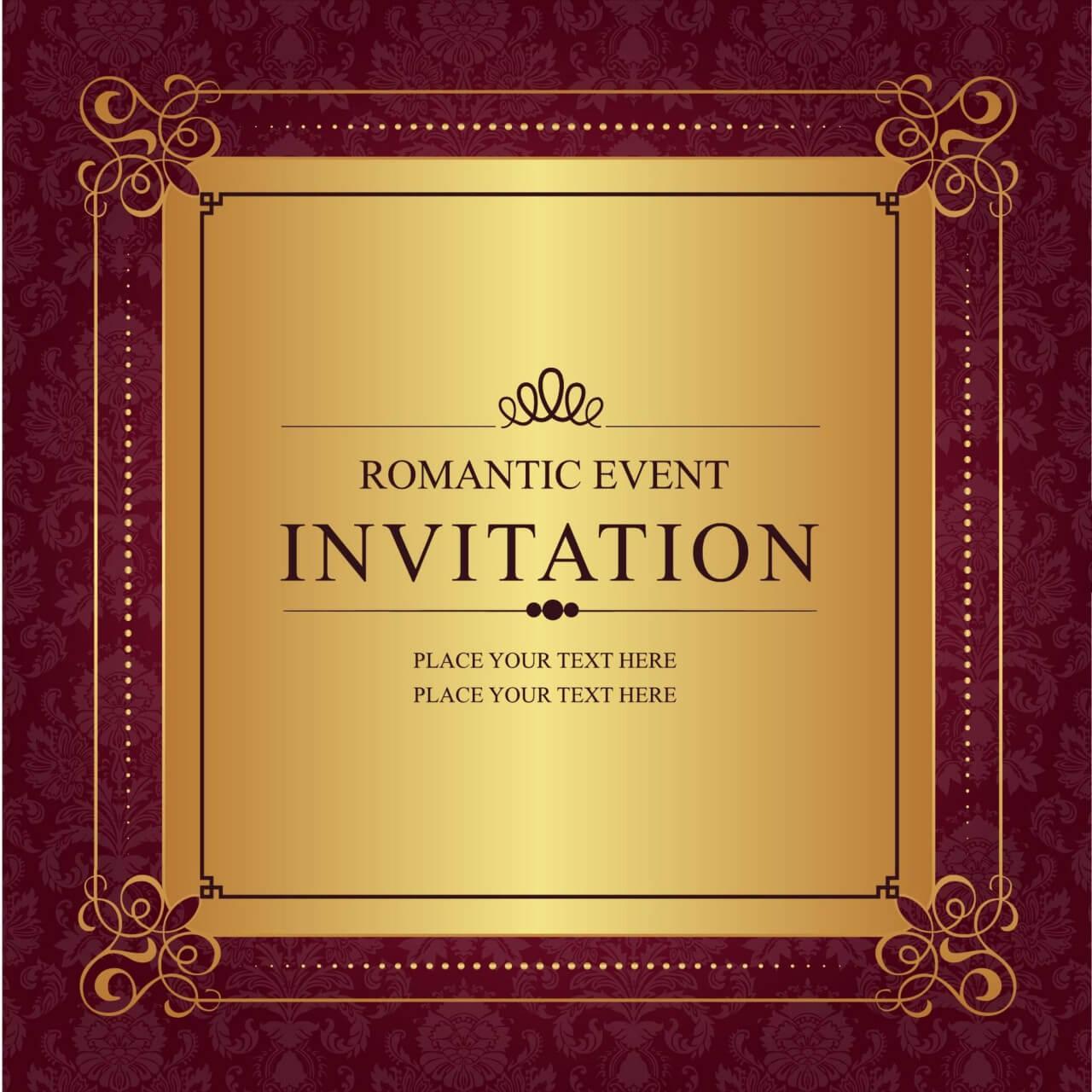 """Free vector """"Invitation"""""""