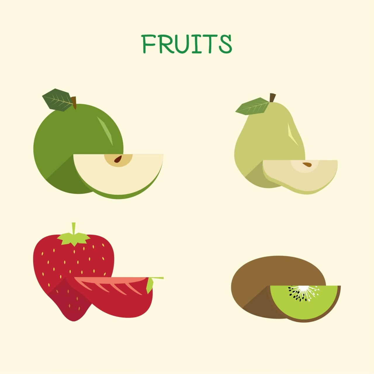 "Free vector ""Fruit Illustration"""