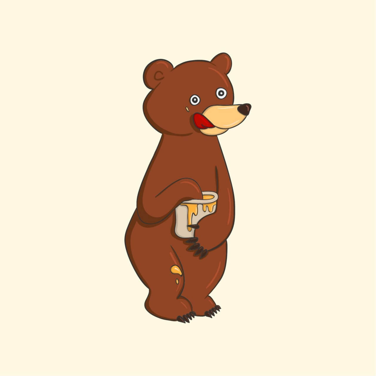 "Free vector ""Honey Bear"""