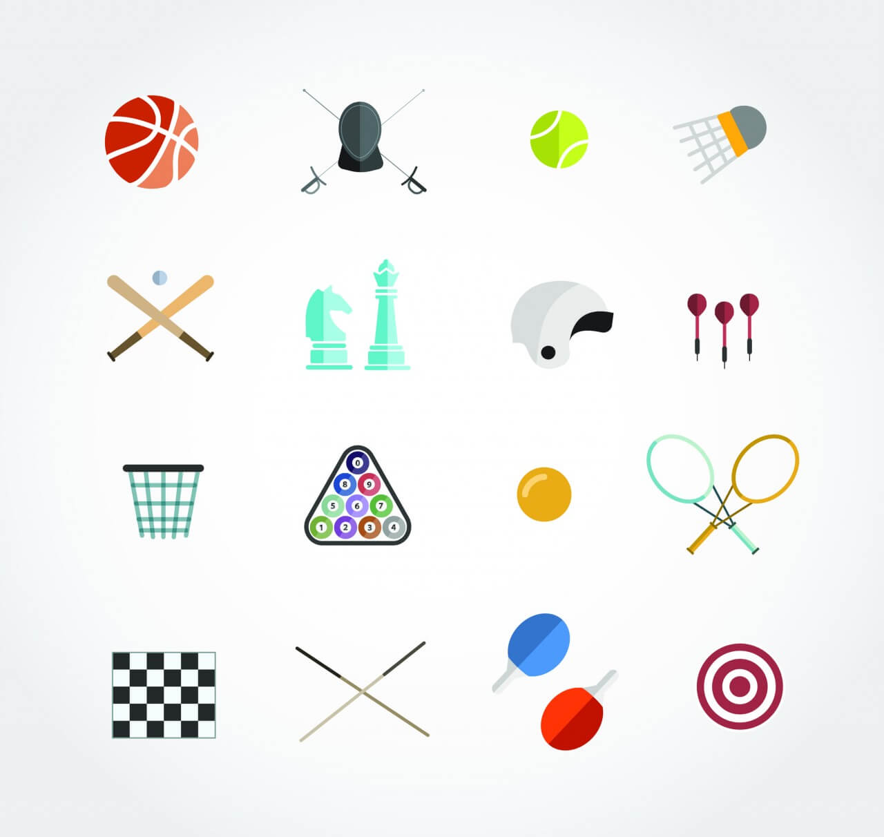 "Free vector ""Sport free vector icons set for web. Free design"""