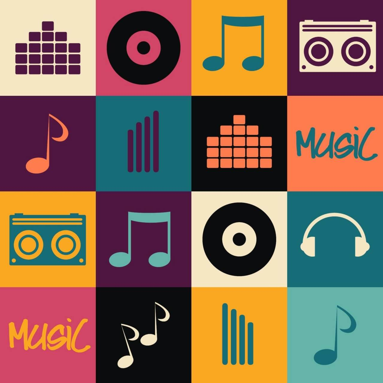 "Free vector ""Music illustration """