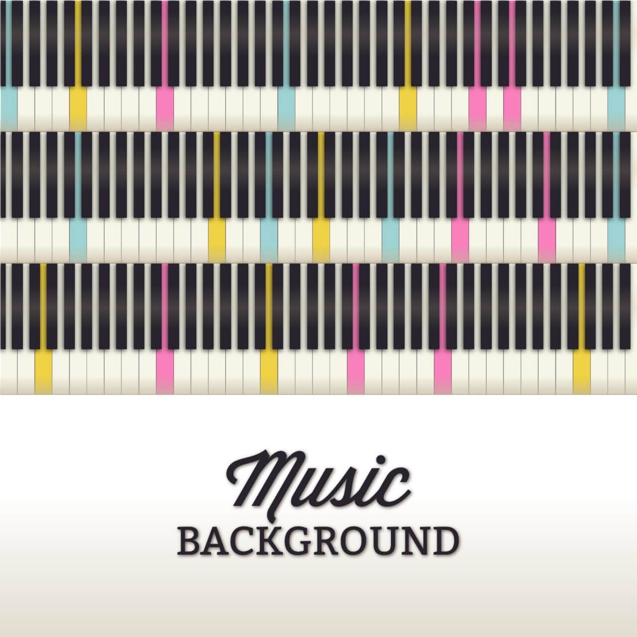 "Free vector ""Music illustration with piano keyboard"""