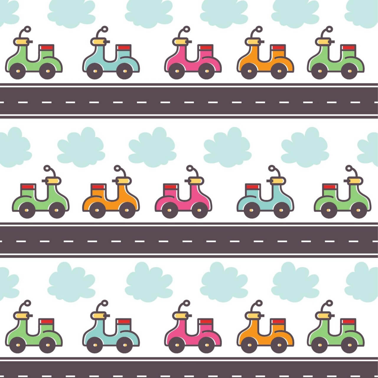 "Free vector ""Doodle illustration with scooter"""