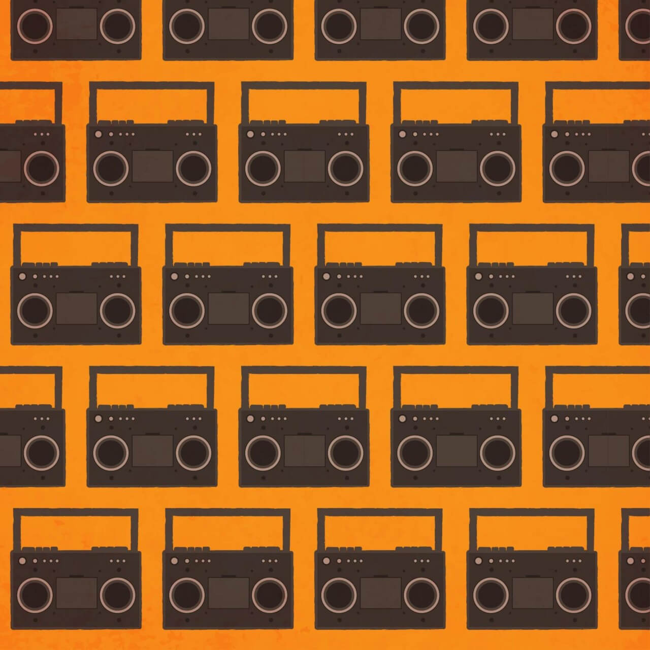 """Free vector """"Music pattern with radio"""""""