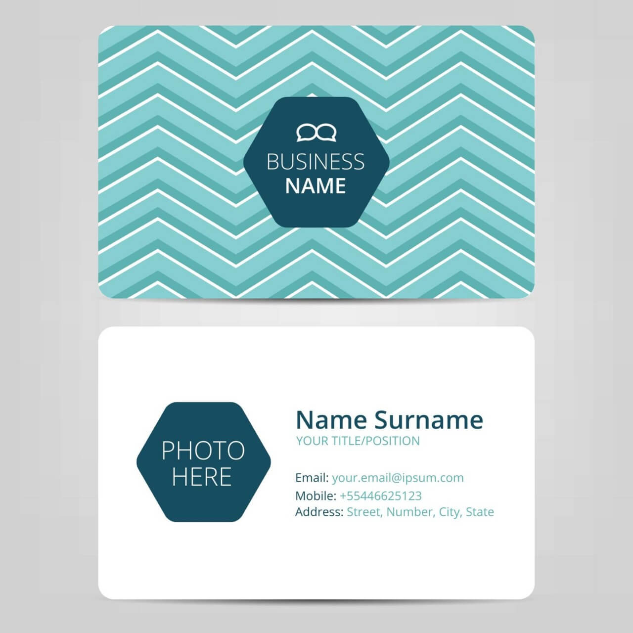 """Free vector """"Business card template"""""""