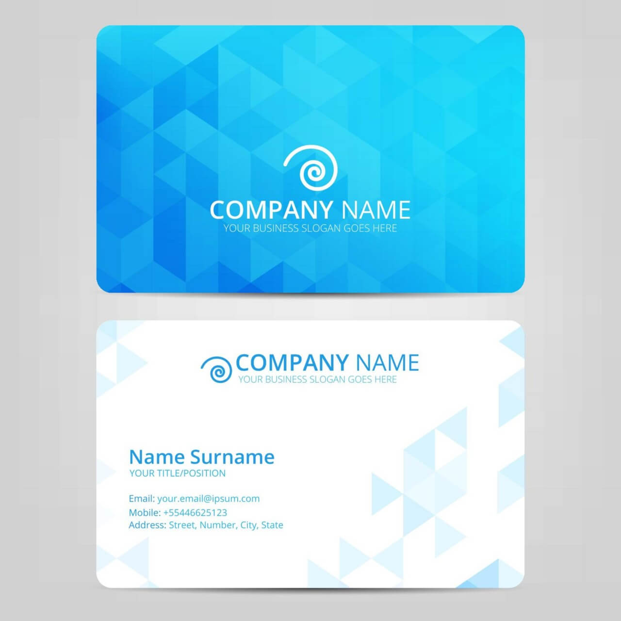"Free vector ""Blue Business Card"""