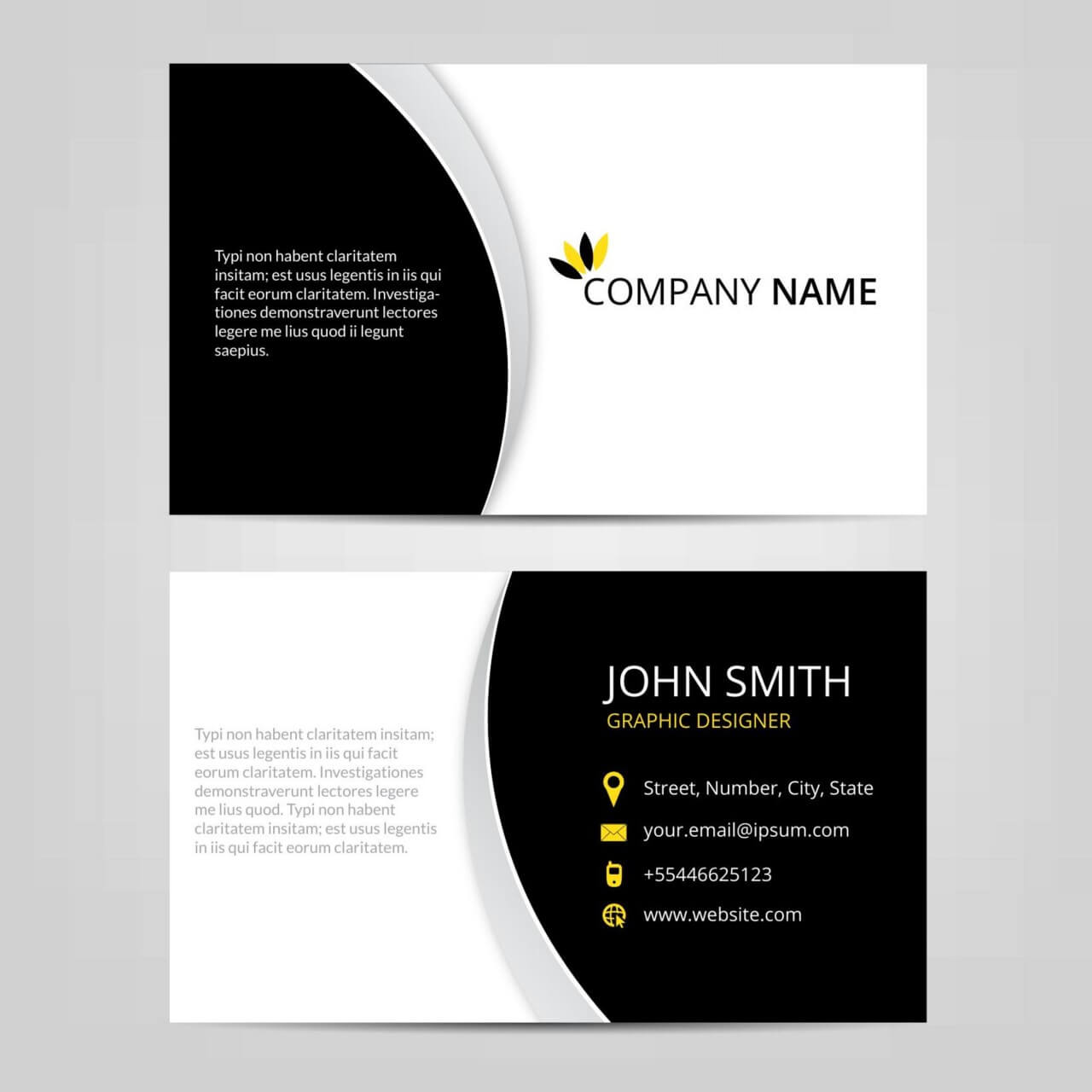 "Free vector ""Vector abstract business cards """