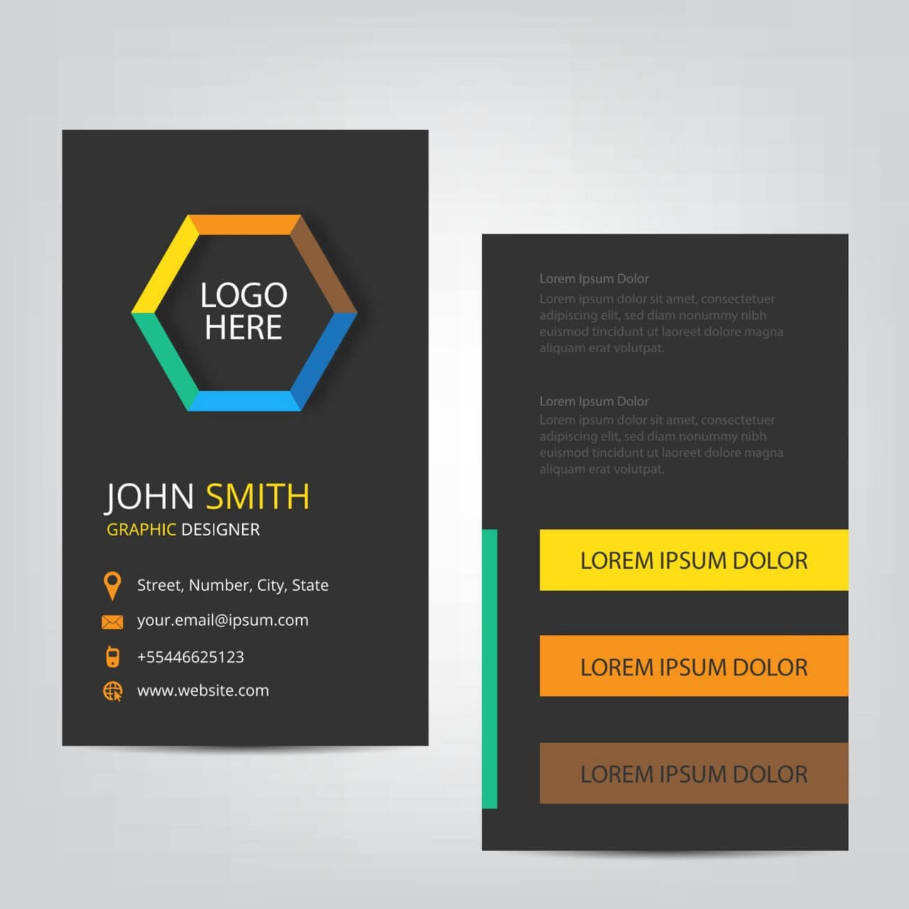 "Free vector ""Vertical Business Card"""