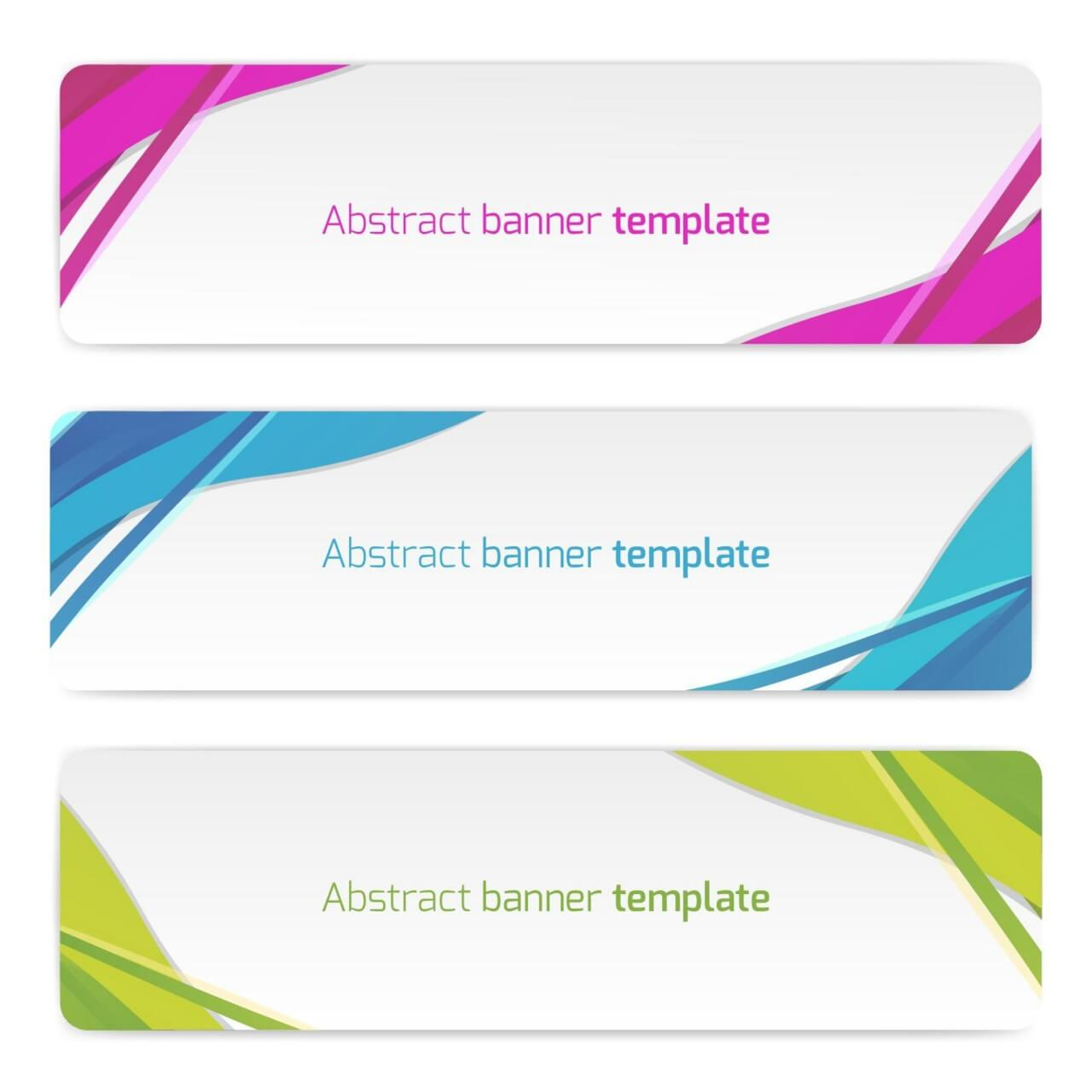 "Free vector ""Abstract vector banners"""