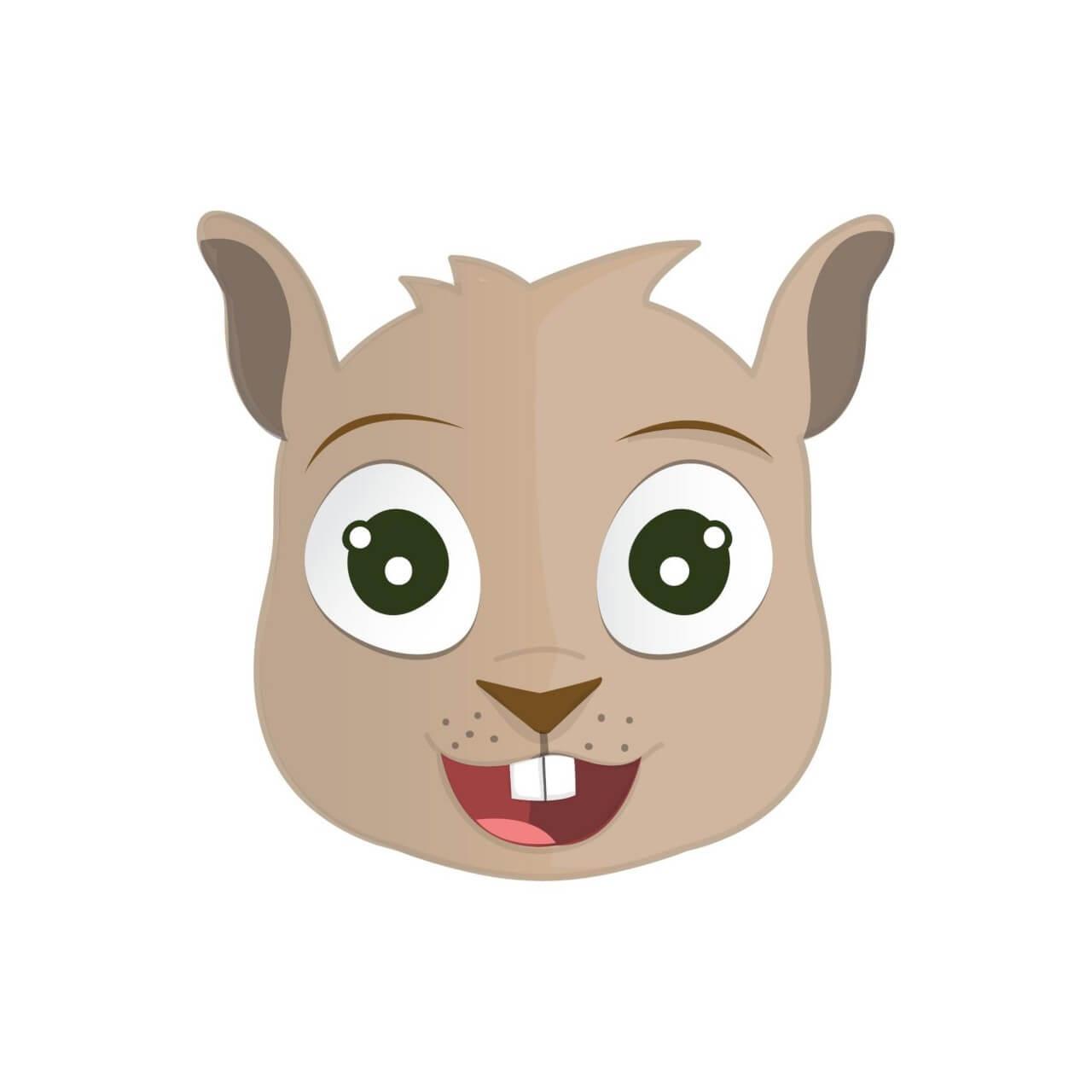 """Free vector """"Happy Squirrel Head"""""""