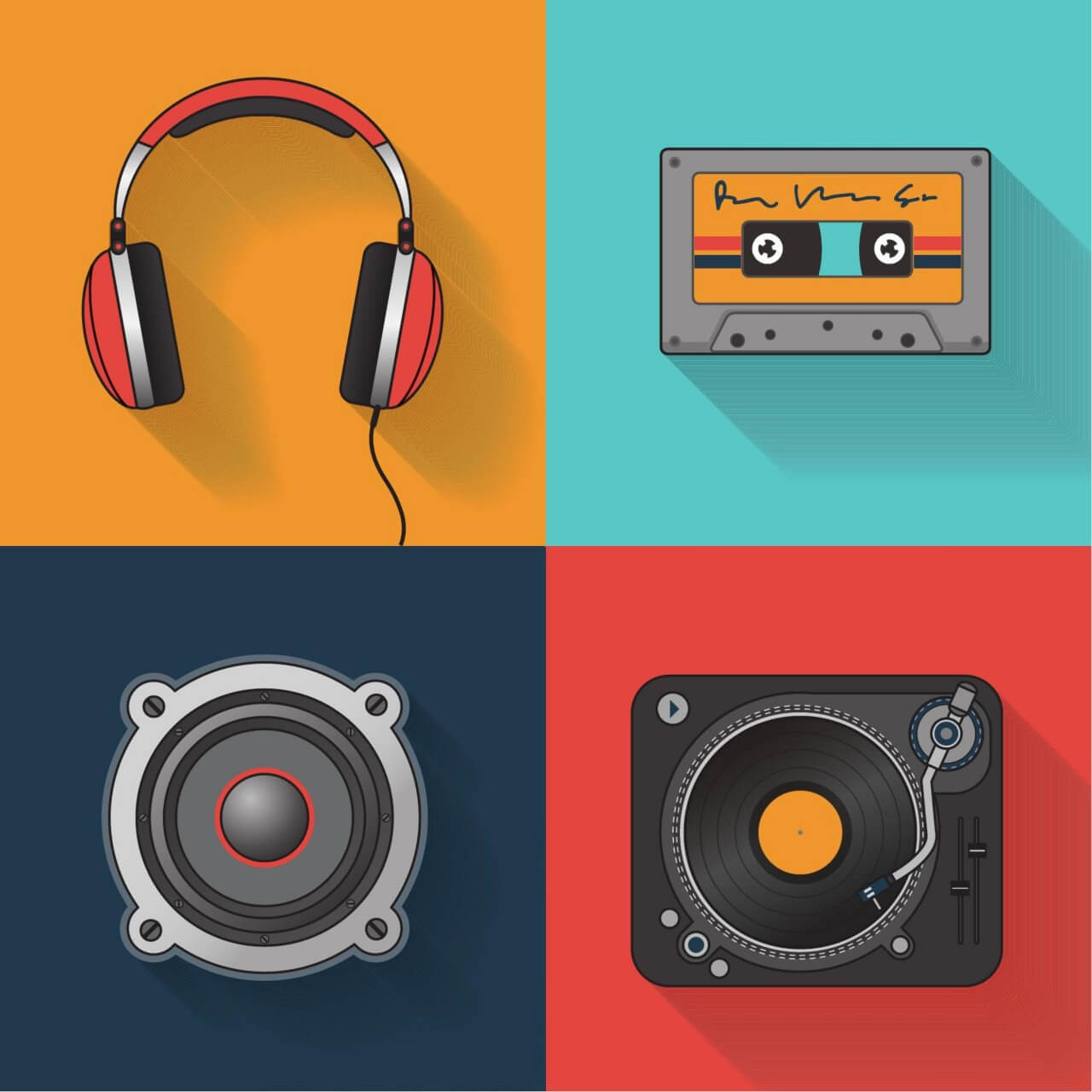 "Free vector ""Music playback icon set"""