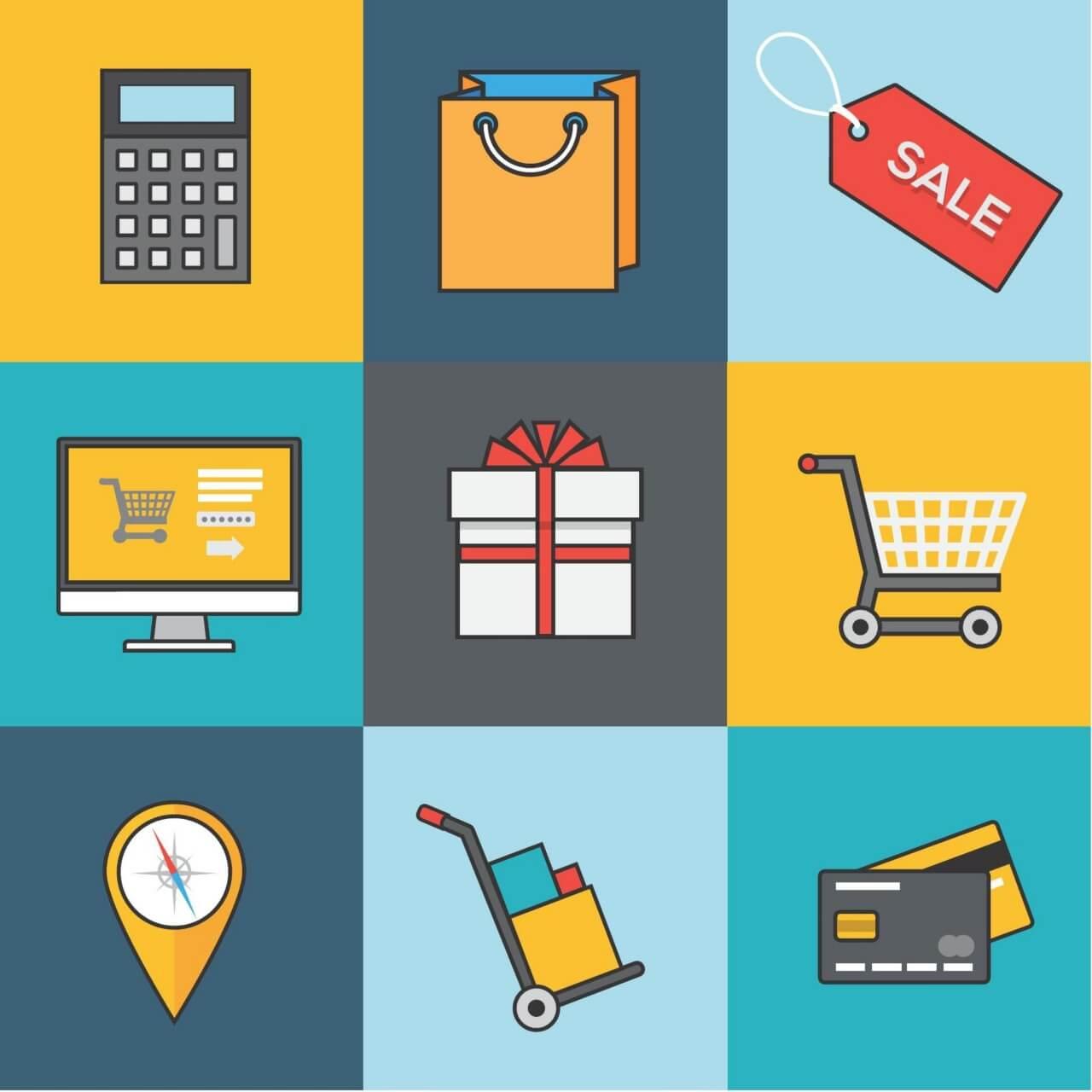 "Free vector ""Shopping Icon Set"""