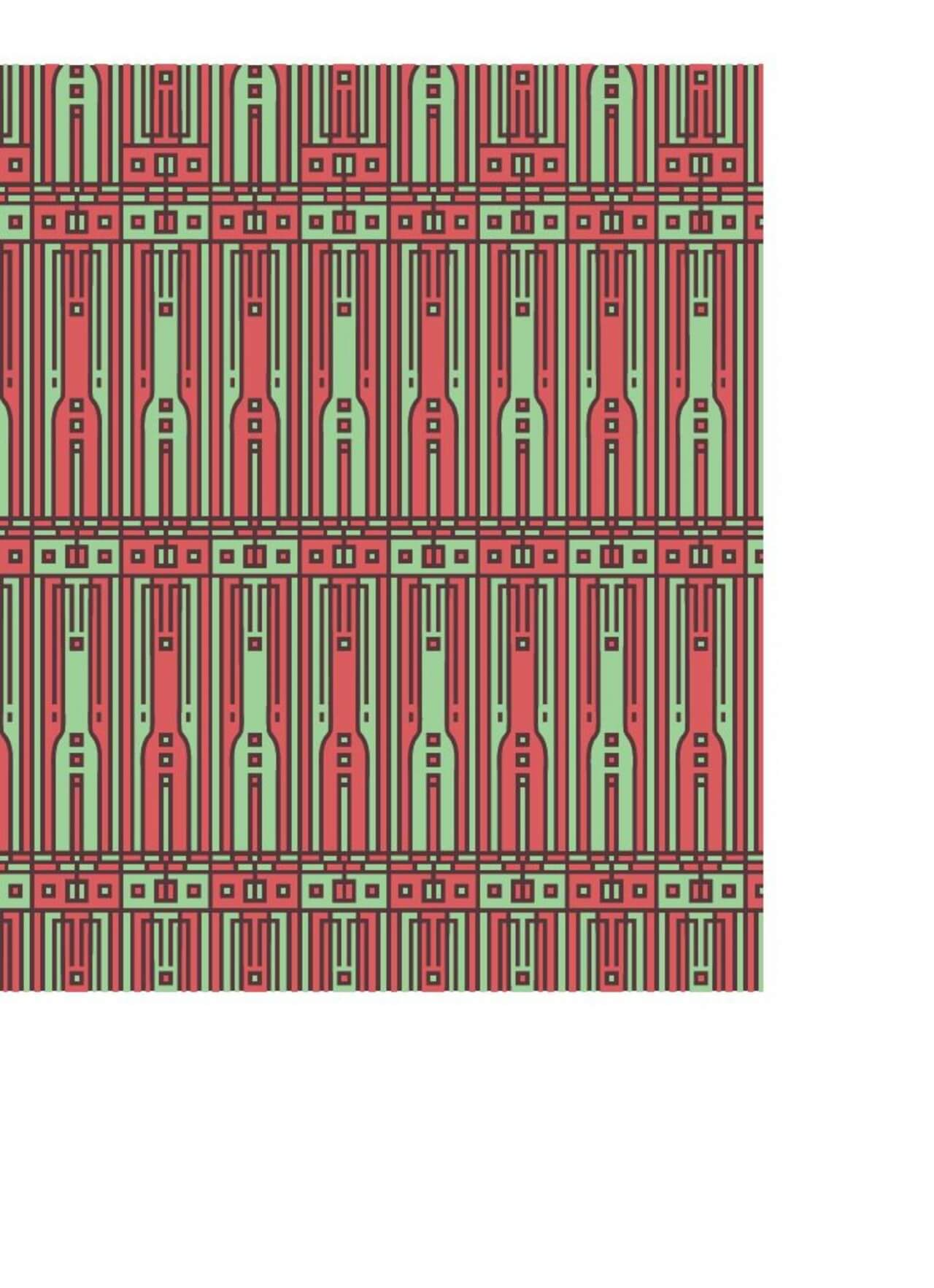 """Free vector """"Tech style green and red geometric style pattern"""""""