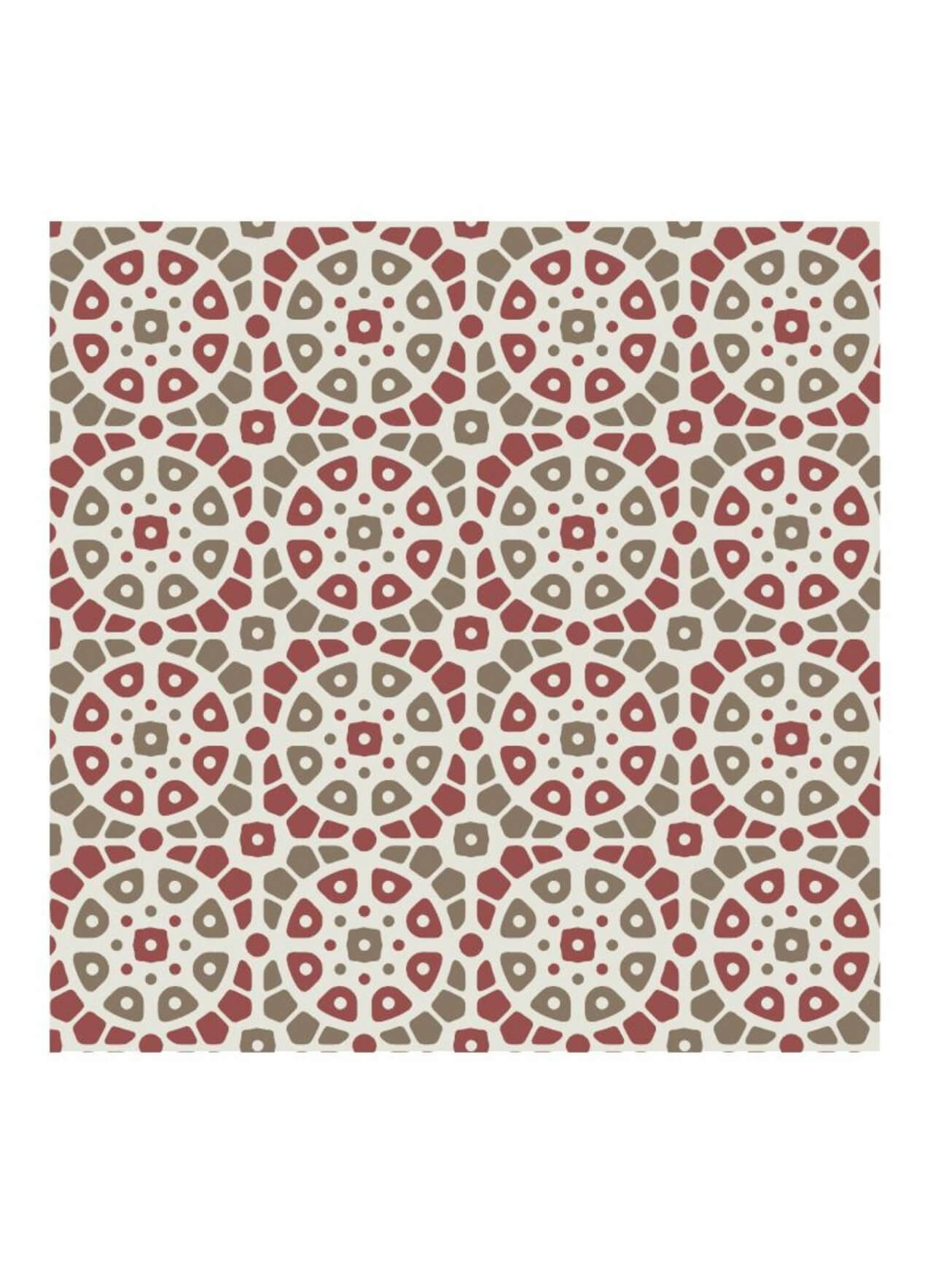 """Free vector """"Mosaic Red and Green Pattern"""""""