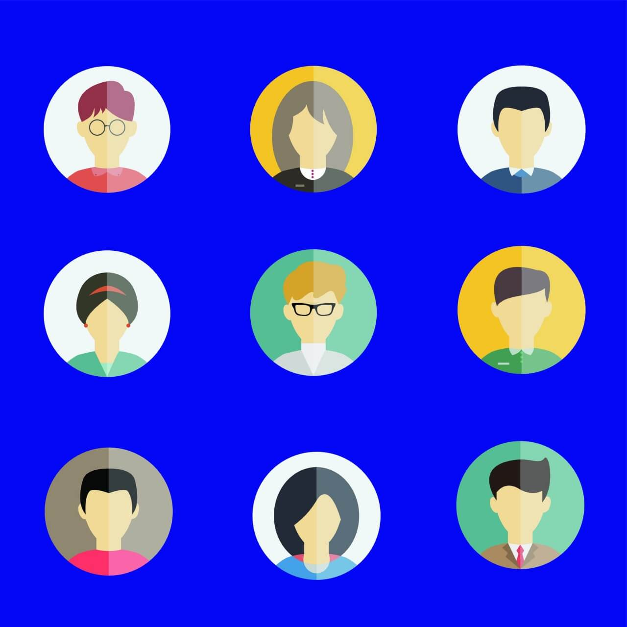 """Free vector """"People vector characters with tools and objects. Free illustration for design"""""""
