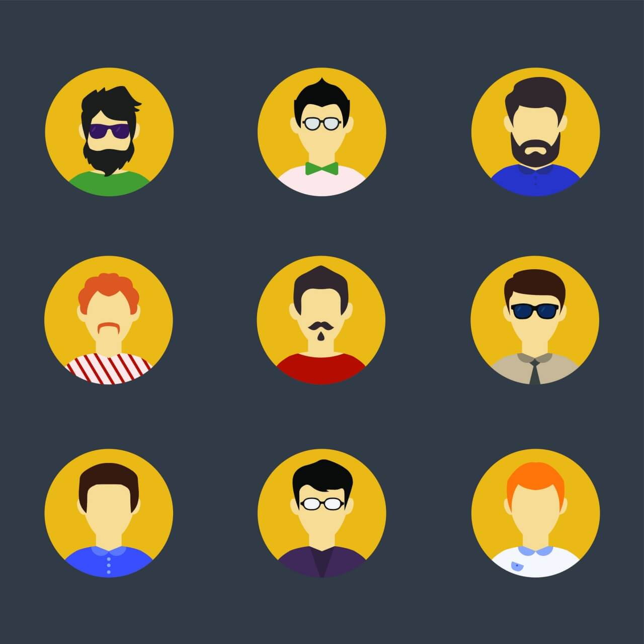 "Free vector ""People vector characters with tools and objects. Free illustration for design"""