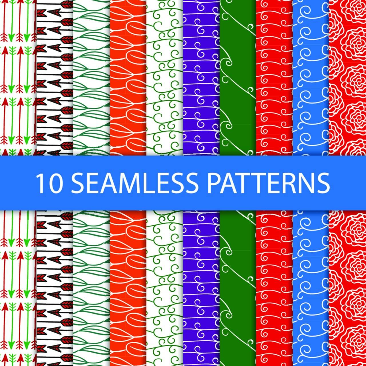 "Free vector ""Seamless floral patterns"""