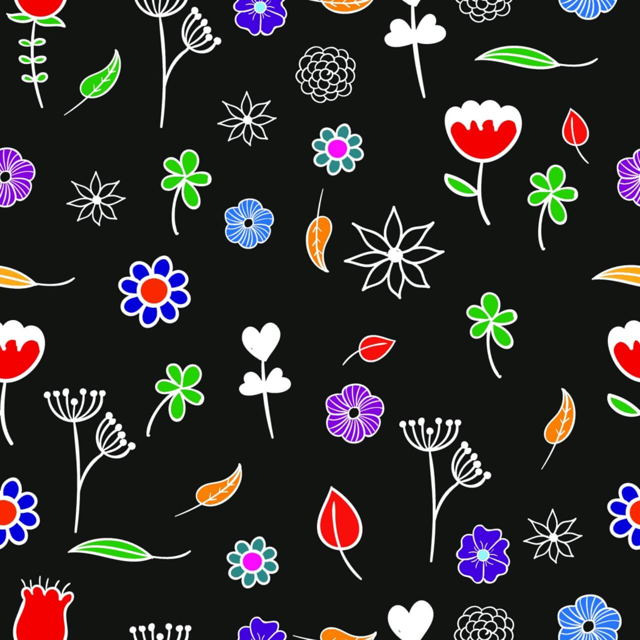 """Free vector """"Seamless floral pattern"""""""