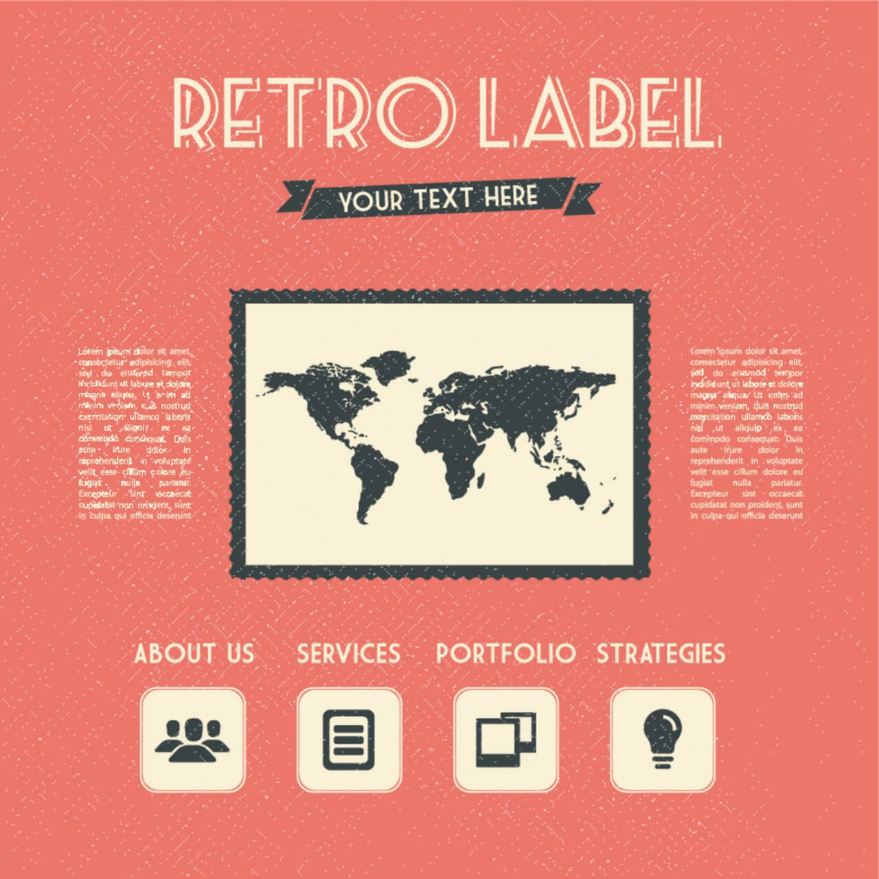 "Free vector ""Retro Label"""