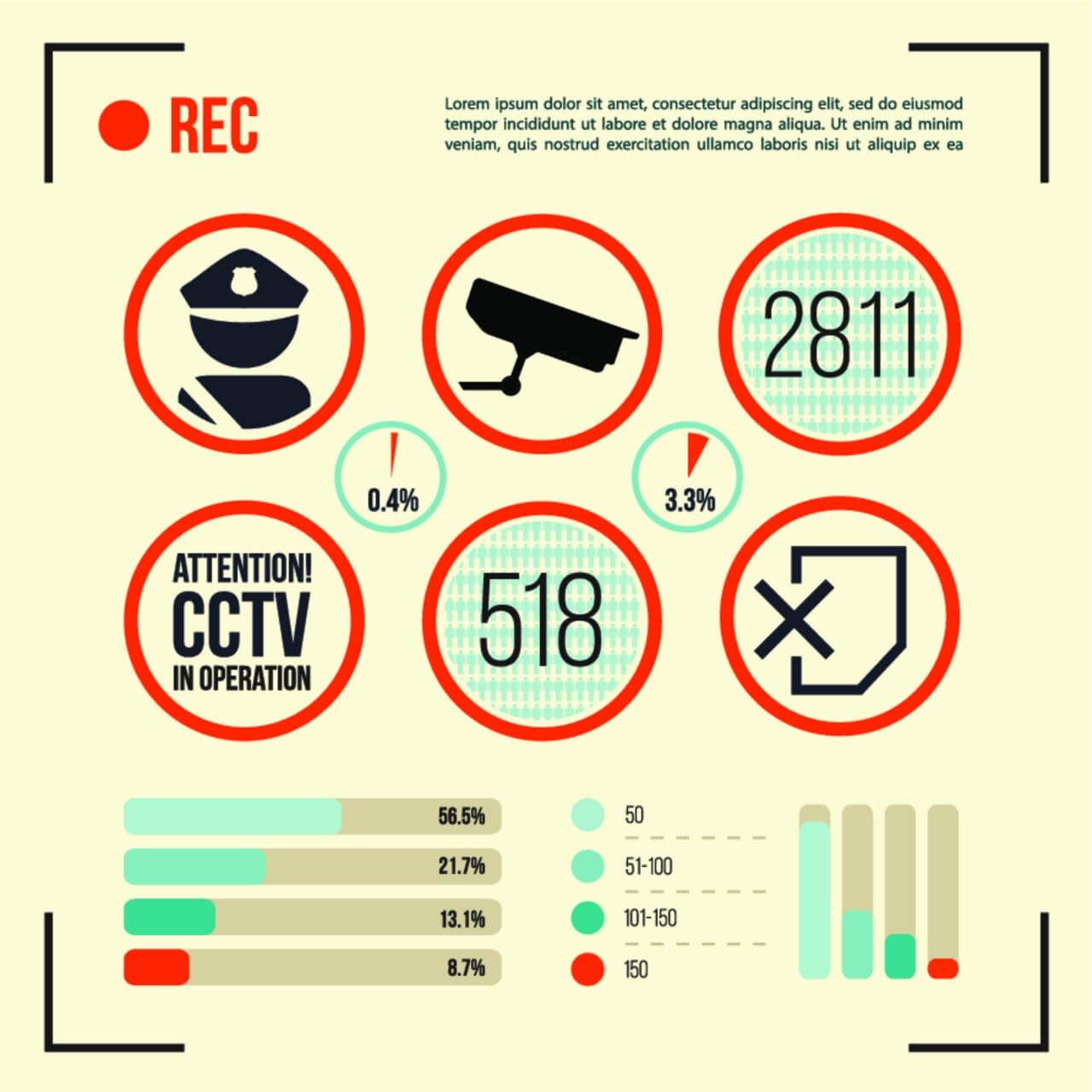 "Free vector ""Set of CCTV Camera Icon"""