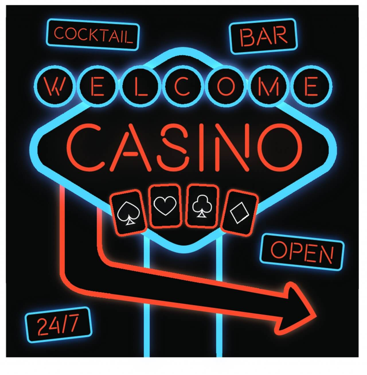 "Free vector ""Casino Neon Sign"""