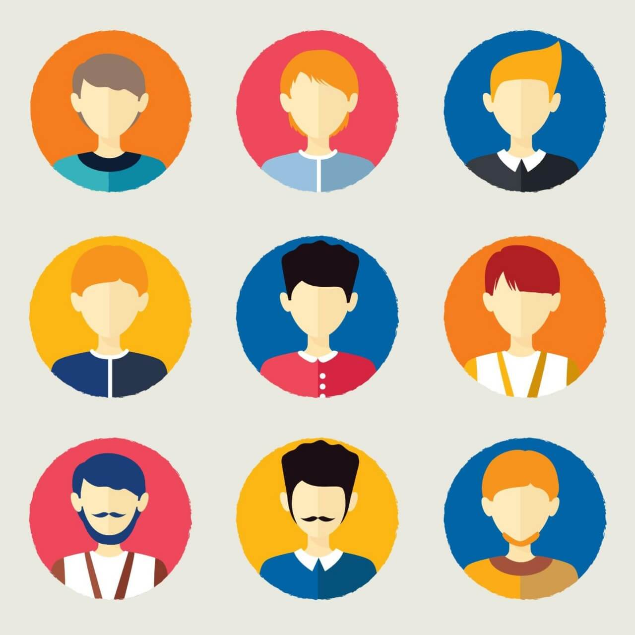 "Free vector ""People avatars"""