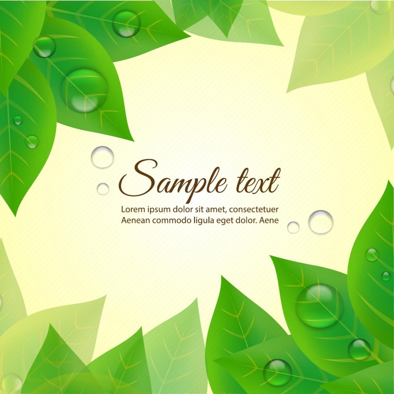 "Free vector ""Summer background with leaves"""
