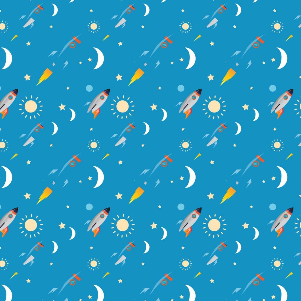 "Free vector ""Space rocket pattern"""