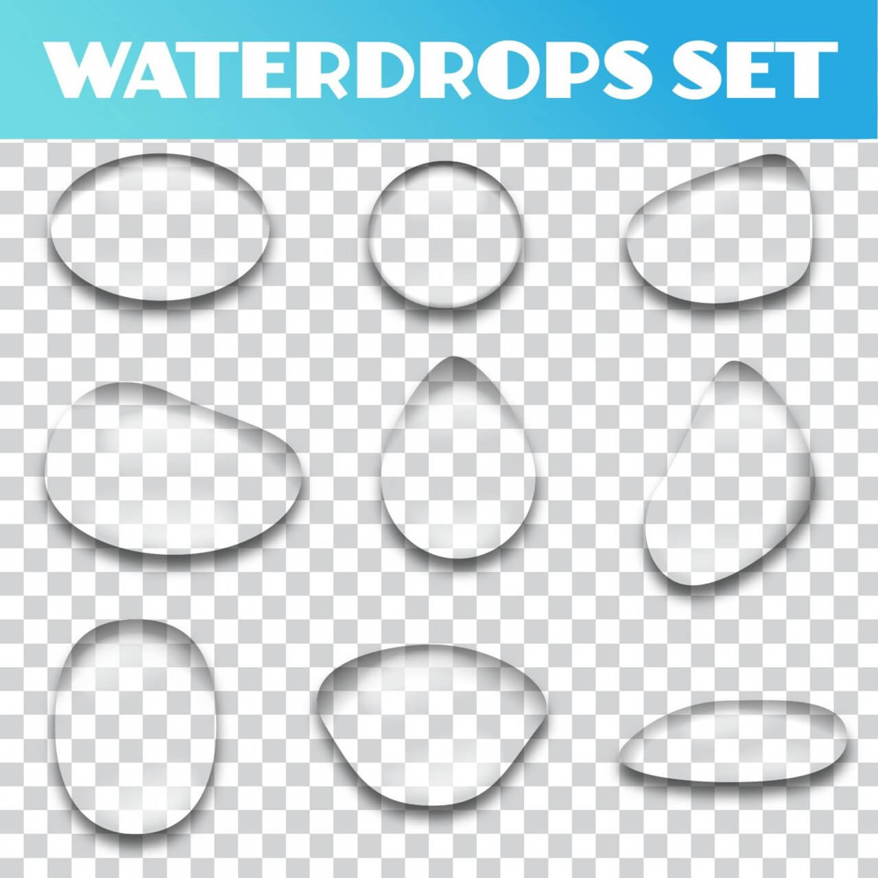 "Free vector ""Water drops vector set"""