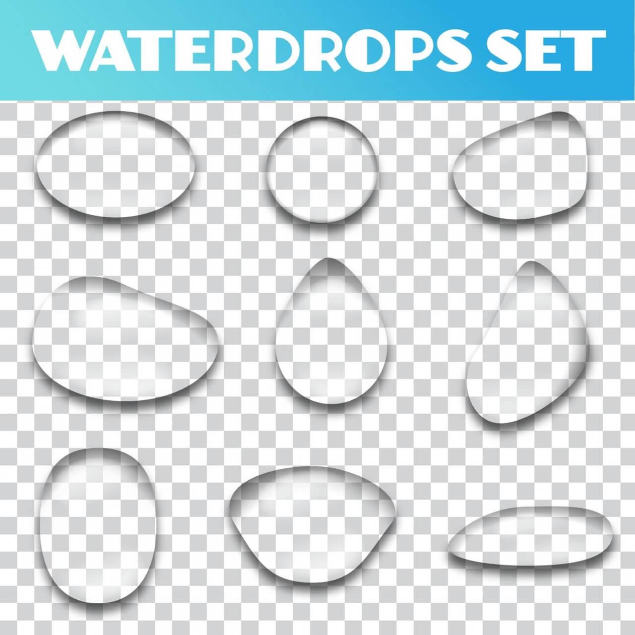 "Free vector ""Water drops vector set"""