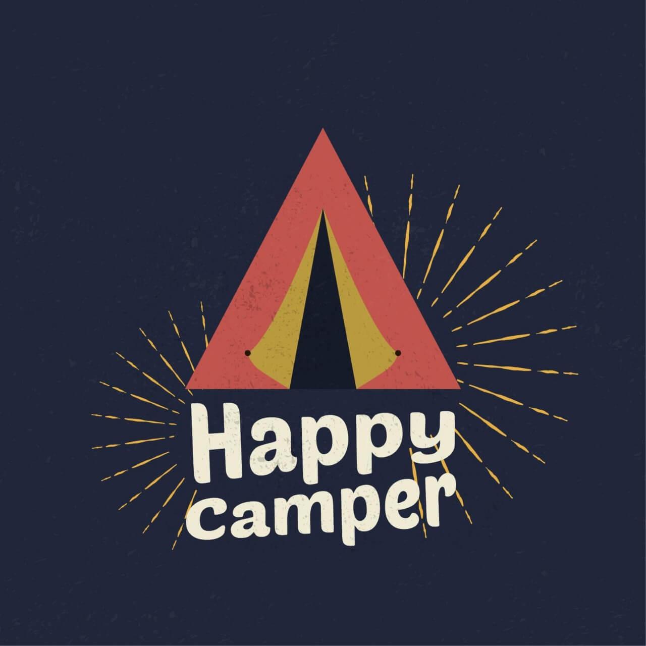 "Free vector ""Happy Camper Illustration"""